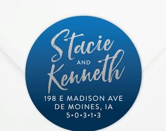 Return Address Sticker #13 - Personalized - Gift, Wedding, Newlywed, Housewarming
