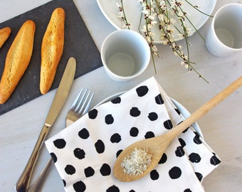 Linen Cotton Cloth Napkin - Modern Napkin - Zero Waste Home