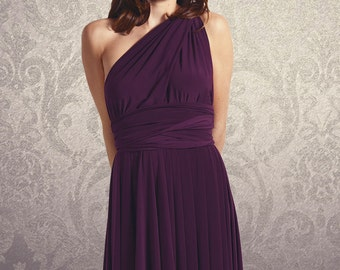 Hi-Lo Bridesmaid Convertible Wrap Dress