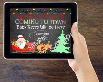 Christmas Pregnancy Announcement *Digital*