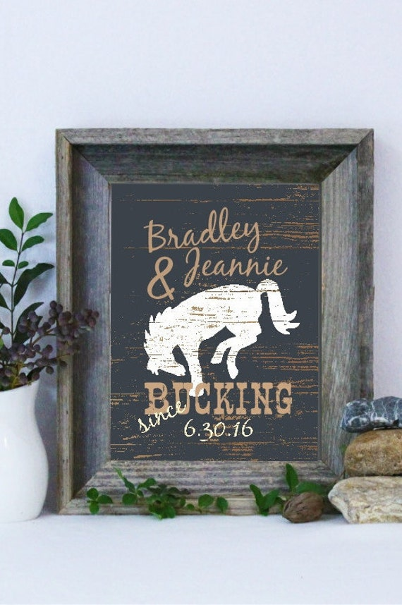 Cowboy Wedding Gifts: Western Print Personalized Gift Wedding Gift Gift For The