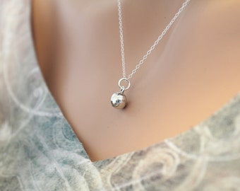 Sterling Silver Softball Necklace, Sterling Silver Baseball Necklace, Softball Necklace, Baseball Necklace, Sports Necklace
