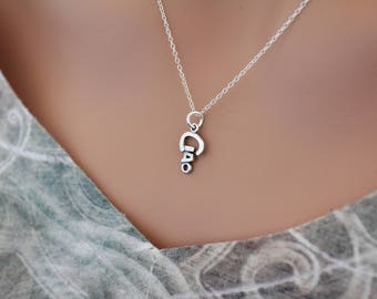 Sterling Silver Ciao Charm Necklace, Ciao Pendant Necklace, Ciao Word Necklace, Silver Ciao Charm Necklace, Italian Word Ciao Necklace