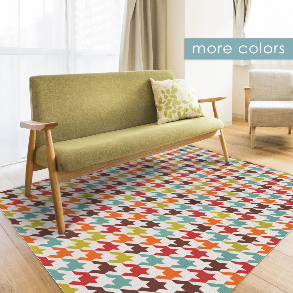 Colorful Linoleum Area Rug Printed On Pvc Mat Modern Carpet