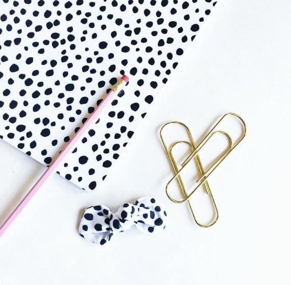 Dalmation Print Designer Bows : featuring Plum Street Prints Exclusive patterns.