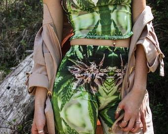 Bike Shorts:Cannabis Shorts in Purple Nepal Marijuana Print, Womens Bike Shorts,Biker Shorts,Cannabis Shorts,Ganja Shorts-Made to Order