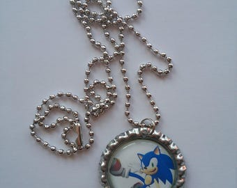 Lot of 10 Sonic the Hedgehog  Bottle Cap Necklaces Party Favor Pack!