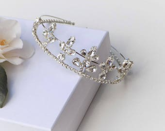 Preciosa Silver Crystal Wedding Tiara