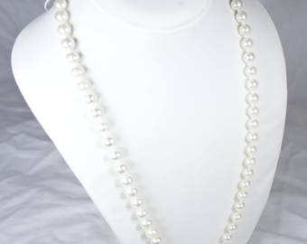 GENUINE PEARL NECKLACE| Vintage Long Classic Simple Elegant Jewelry