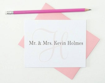 Personalized Monogram Stationary Set/Note Cards Personalized/Family Monogram Notecards/Custom Note Cards with Envelopes/Stationery Set of 12