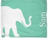 "Elephant Throw Blanket Elephant Decor Elephant bedding Lucite Green Home Decor Elephant 50""x60"", 60""x80"""