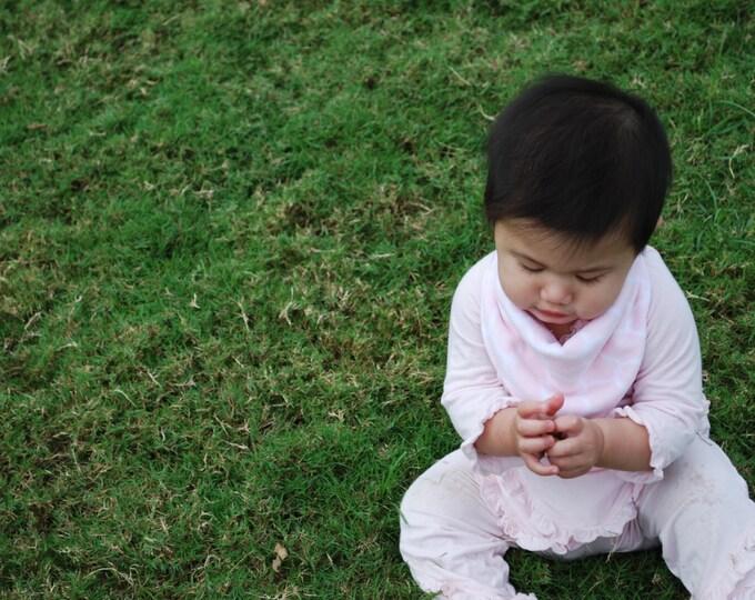 Pink Bandana Baby Scarf - Pink Fleece Baby Scarf - Baby Bandana Scarf - Winter Baby Scarf - Winter Scarf - Baby Girl Scarf - Bandana Scarf