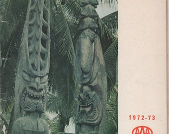 Hawaii, 1972 - 73 AAA Guide,  illustrated, 88 pages, good shape