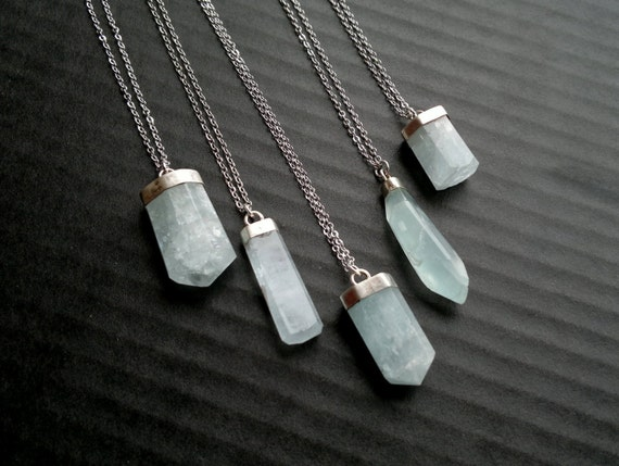 Aquamarin stein halskette