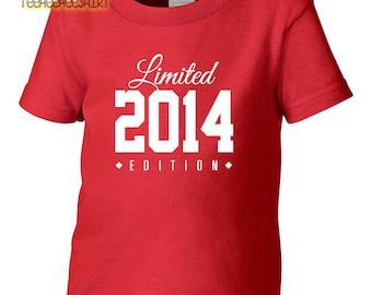 2014 Limited Edition Birthday Toddler Tshirt, Toddler 3rd Birthday Tshirt, Toddler's Birthday Tshirt, Gift for Toddler Birthday
