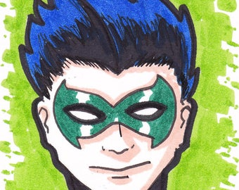 """Robin Damien ACEO trading card2 1/2"""" x 3 1/2"""""""
