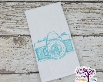 Camera Sketch Kitchen Towel