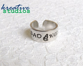 Bad Wolf Ring - Hand Stamped, Doctor Who, Rose Tyler, Doctor 9, Doctor 10, Fantastic, Allons-y, Tardis, Geeky, Nerdy