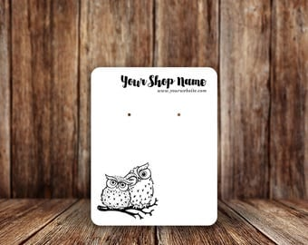 Jewelry Display Cards | Earring Cards | Necklace Cards | Two Owls