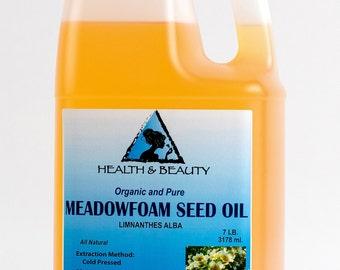 7 Lb, 1 gal MEADOWFOAM SEED OIL Organic Carrier Expeller Pressed 100% Pure