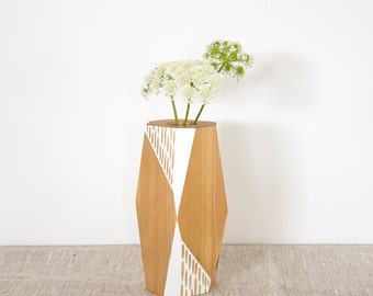 Faceted Kauri Vase — small