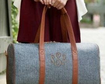 Monogram Townsend Duffel Bag Great for Graduation or Dad