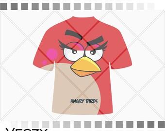 Angry birds svg, printable art for tshirts, printable art, Silhouette Studio, cricut, svg files for cricut.