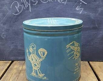 Vintage Billy's Bretzels Tin, 1950s Reading PA Pretzel Container, Vintage Advertising
