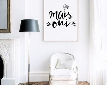 Oui art print etsy for Oui non minimaliste