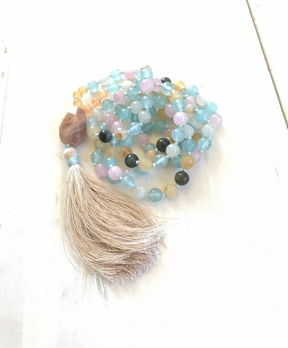 Fertility Mala Beads, Healing Mala For Women, Change Of Life Mala, Childbirth Mala Beads, 108 Bead Mala, Yoga Meditation, Natural Healing