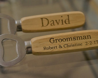 Personalized Bottle Opener, Groomsmen Gift, Wedding Favors, Usher gifts, Beer Opener