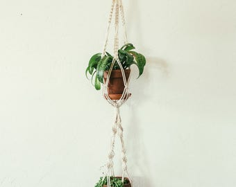 small double macrame plant hanger