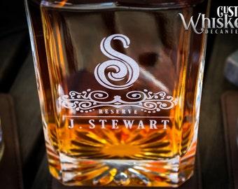 Custom Whiskey Decanter, Engraved Whiskey Decanter, Decanter Set With 2 or 4 Glasses, Groomsmen Gift, Wedding Gift, Gift For Men.