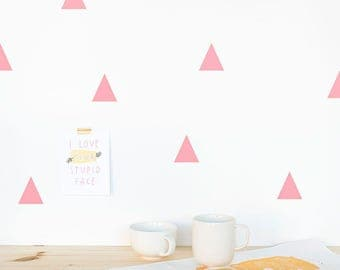 Triangle Wall decal Pink / Wall Triangles Vinyl Sticker / Triangles Home decor / Triangle pattern / Geometric wall decal / Nursery decor