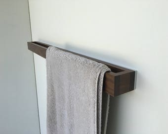 Bathroom Towel Rack - Walnut-White - Modern Towel Rack
