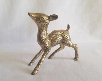 Vintage Brass Deer/Doe Figurine