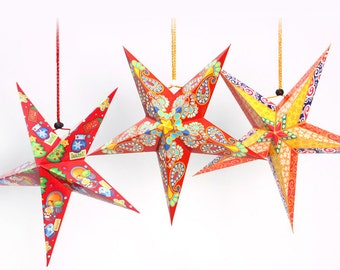 Set 8 pcs Moroccan STARS Lanterns Decors - DIY Party, Wedding, Shower, Birthday, Pub Restaurants