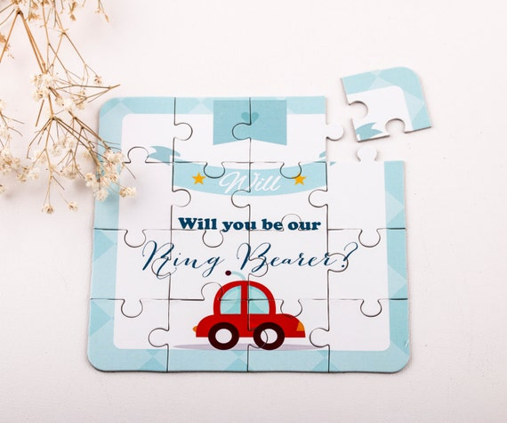 Will You Be My Ring Bearer Puzzle Invitation Page Boy Puzzle Cars and Trucks Junior Groomsmen Invitation
