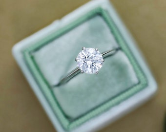 Diamond Solitaire Engagement Ring 2.15 Carat Round Cut  E/SI2 14K White Gold #J74943  FREE SHIPPING