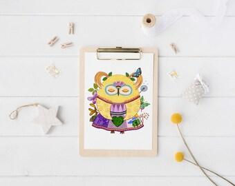 Fine Art Owl Print - Fairy Owl