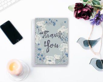 Unique Thank You Cards - Custom Accent Color - Thank You Cards - 5 by 7 inches with envelope
