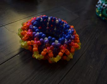3D rainbow sunset kandi cuff