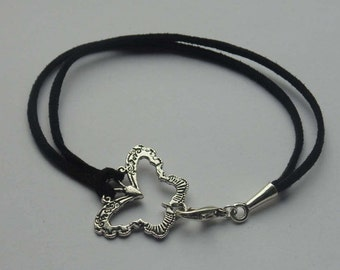 Suede Cord Connector Bracelet - Two Designs