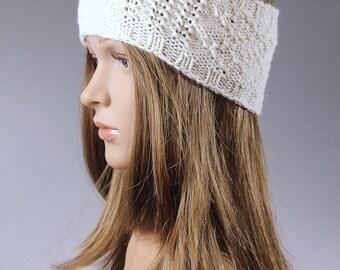 Knit Head wrap, Knit Ear Warmer, Knit Head band, Knit Head band, Knit HeadBand, White Head Warp, Gray Head Warp
