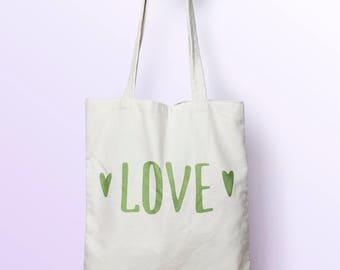 X445Y Love bag Tote, bag canvas, cotton bag, diaper bag, tote bag, shopping bag, shopping bag, bag clamp