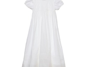 Baptism Gown with Embroidered Cross