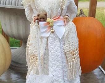 1907 Coney Island Costume Hand Crocheted Barbie