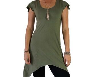 PIXIE DRESS - Renaissance Festival Dress, Fairy Dress, Gypsy Dress, Pirate Dress, Boho, Peasant Dress, Gown, Steampunk Dress - Light Green