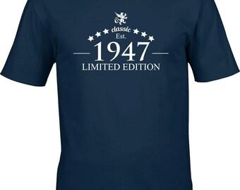 70 birthday tshirt, birthday gift, 1947 year, classic, limited edition