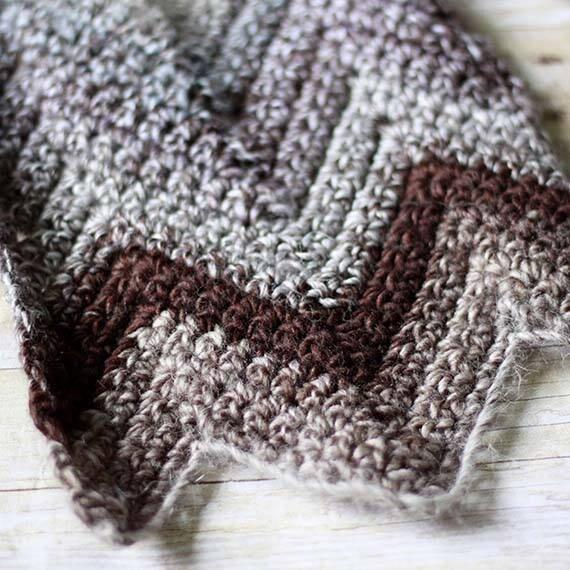 PDF Crochet Pattern - Chevron Scarf
